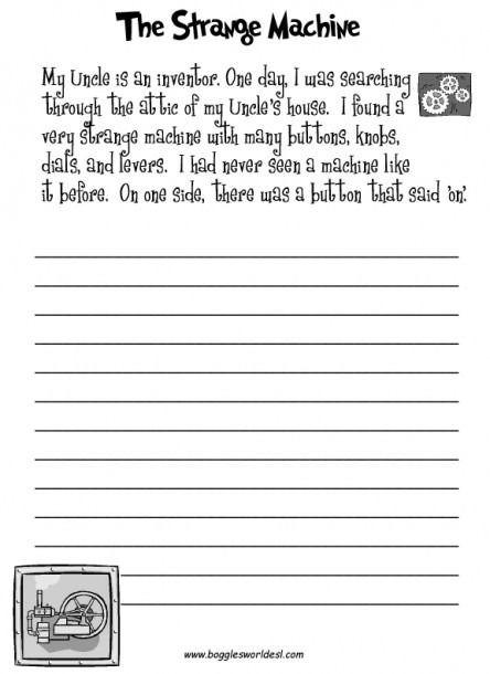 Th Grade Creative Writing Worksheets