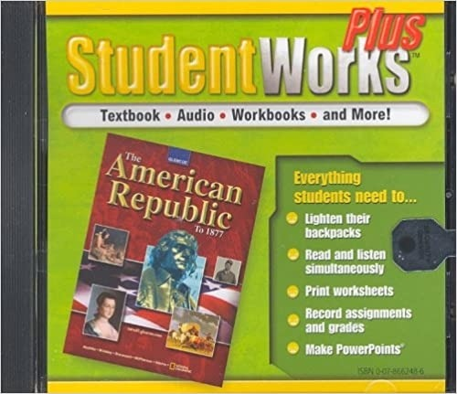 The American Republic To   Studentworks Plus Cd