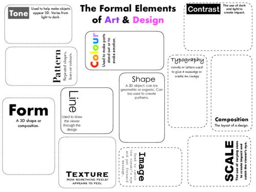 The Formal Elements Of Art   Graphic Design Worksheet