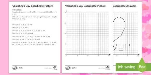 Valentines Day Coordinates Worksheet Teacher Made
