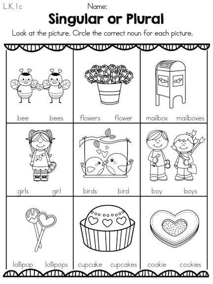 Valentines Day Kindergarten Literacy Worksheets