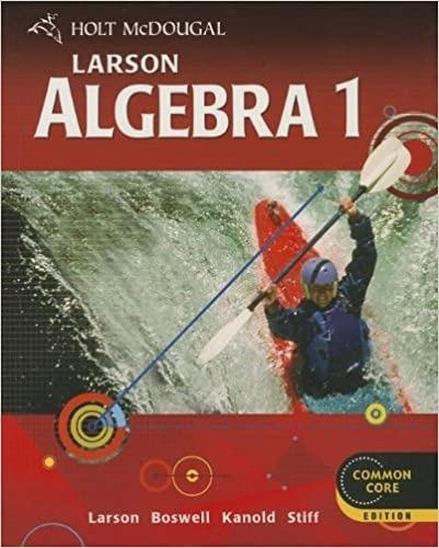 Amazoncom Holt Mcdougal Larson Algebra   Ron