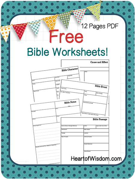 Bible Study Tools Free Printable Worksheets For Youth Sunday