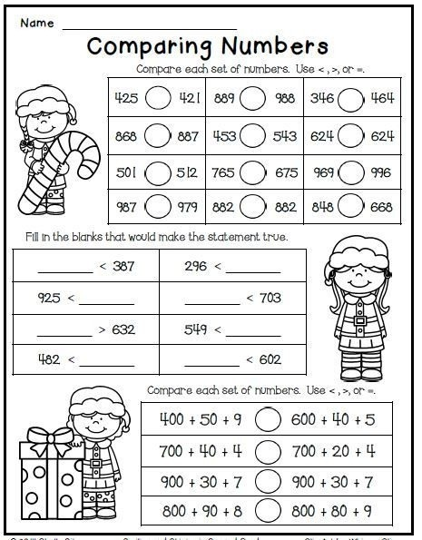 Christmas Freebie Print And Go Nd Grade Math Worksheets Themed