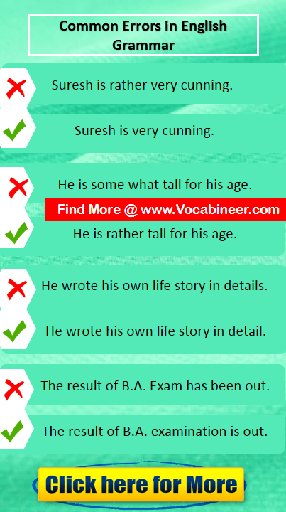 Common English Mistakes Worksheet  English Mistakes With
