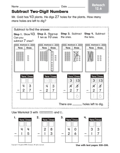 Division With Base Ten Blocks Worksheets Representing Numbers To
