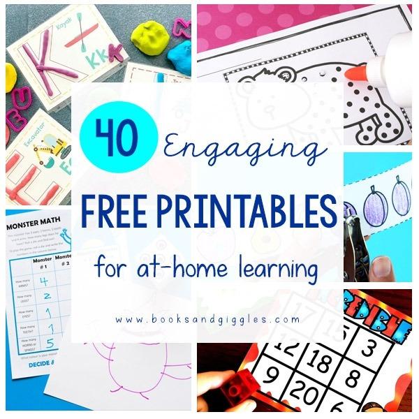 Engaging Free Kindergarten Worksheets For Home Learning