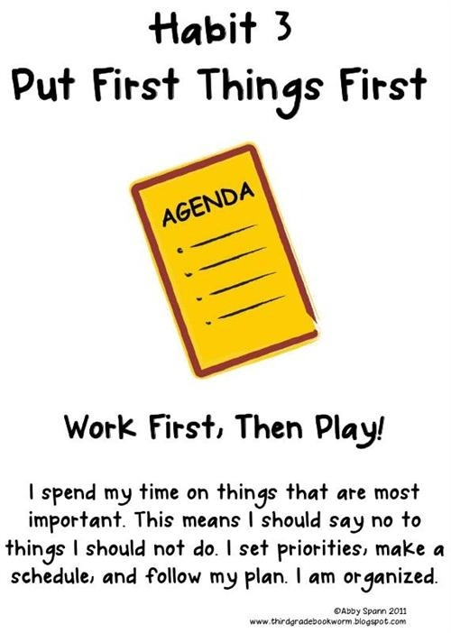Habit Put First Things Lessons Tes Teach Habits For Kids