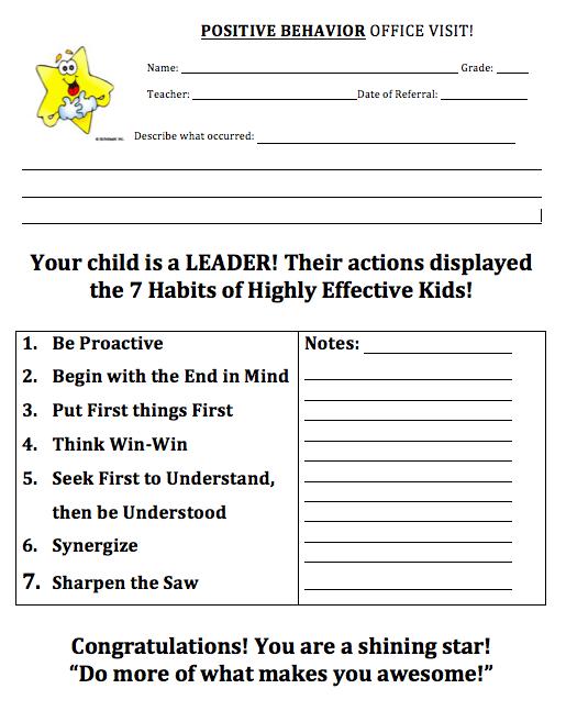 Habits For Kids Worksheets  Jaimie Bleck