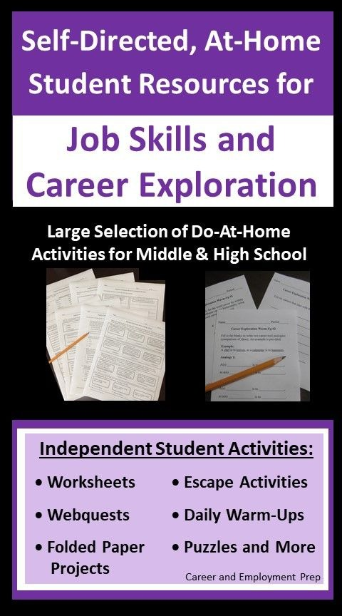 Job Skills Student Resources To Do At Home