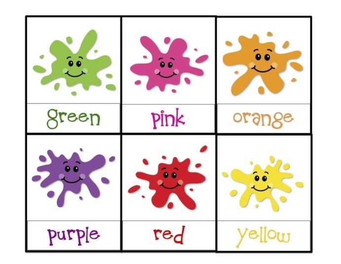 Learning Colors Printable Toddler Color Teaching Worksheets