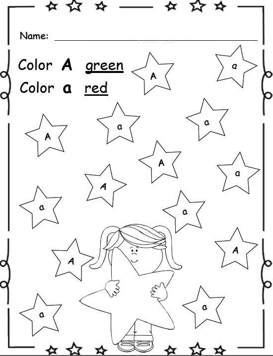 Letter Recognition   Identification Kindergarten Worksheetssuper