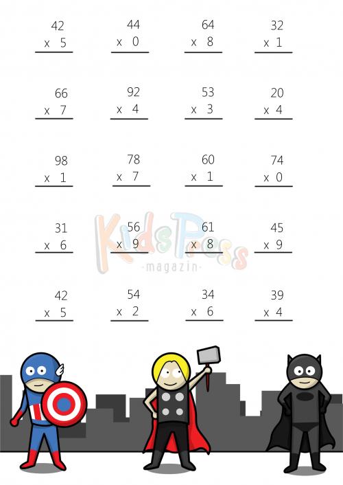 Math Worksheets   Digit By  Digit Multiplication