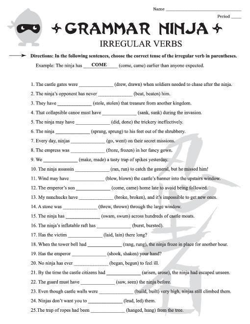 Pre Grade Grammar Worksheets