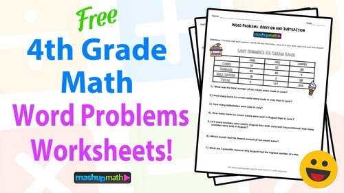 Th Grade Math Word Problems Free Worksheets With Answers