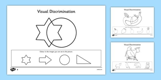 Visual Discrimination Worksheet  Worksheet Pack Find The Overlapping