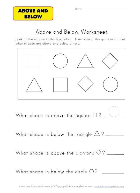 Above Worksheet