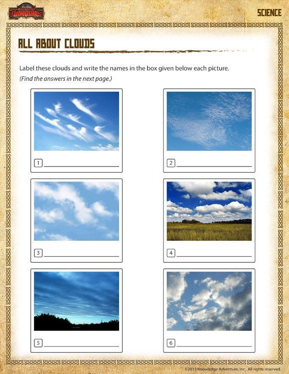 All About Clouds View  Nd Grade Science Worksheet Online