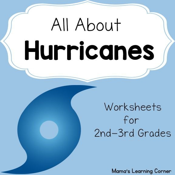 All About Hurricanes Resource Packet For Kids Hurricane Worksheets