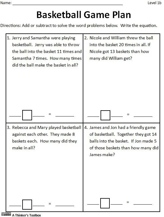 Basketball Math Madness By A Thinkers Toolbox Worksheets
