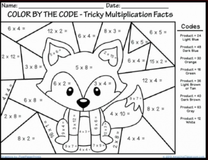 Best Coloring First Grade Math Sheets In Color Number Free