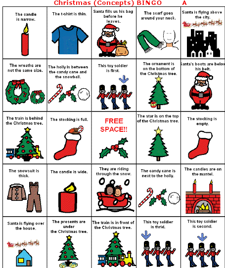 Christmas Speech Therapy Games