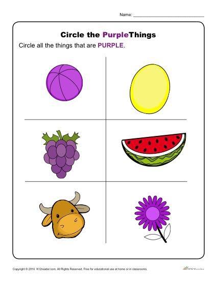Circle The Purple Things