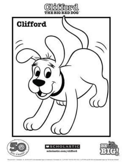 Clifford Coloring Sheet