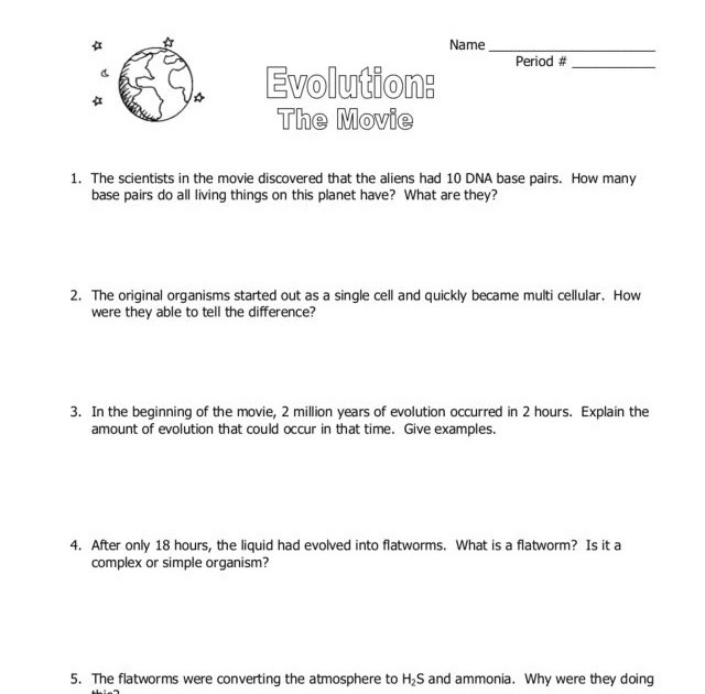 Contact Movie Worksheet Answers