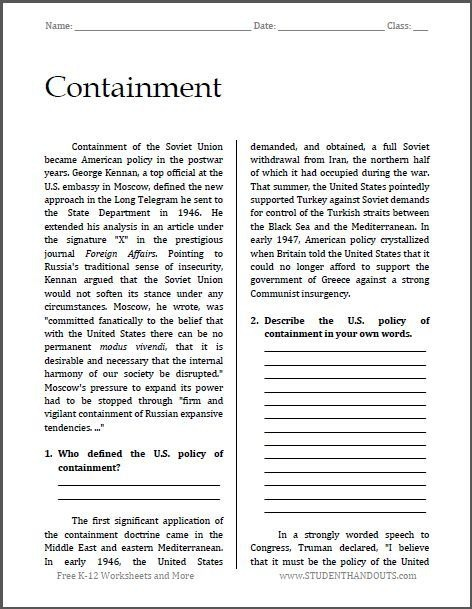 Containment In The Cold War