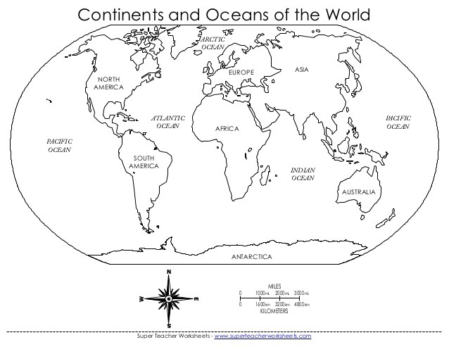 Continents Oceans Wmzbn