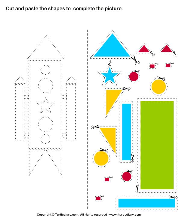 Cut And Glue Worksheets Image Ideas Worksheet Preschool For Kids