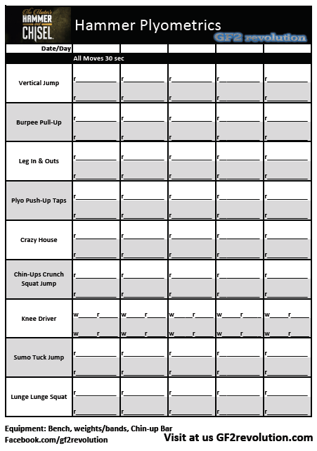 Download Your Free Hammerplyometrics Worksheet To Record Your