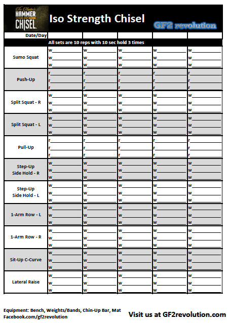 Download Your Free Isostrengthchisel Worksheet From Www