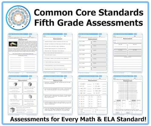 Fifth Grade Common Core Assessment Workbook Download