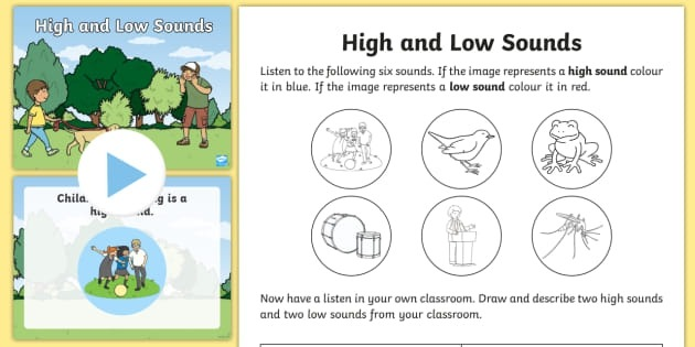 First And Second Class High And Low Sounds Activity Pack
