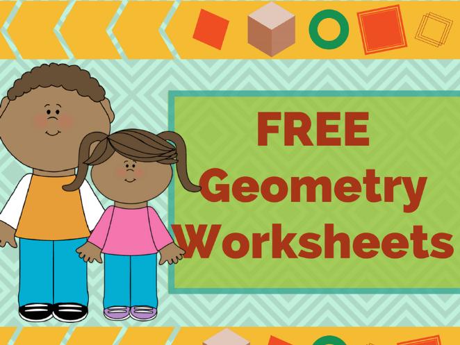 Free Colorful Printable Geometry Worksheets