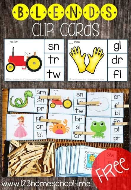 Free Consonant Blends Activities