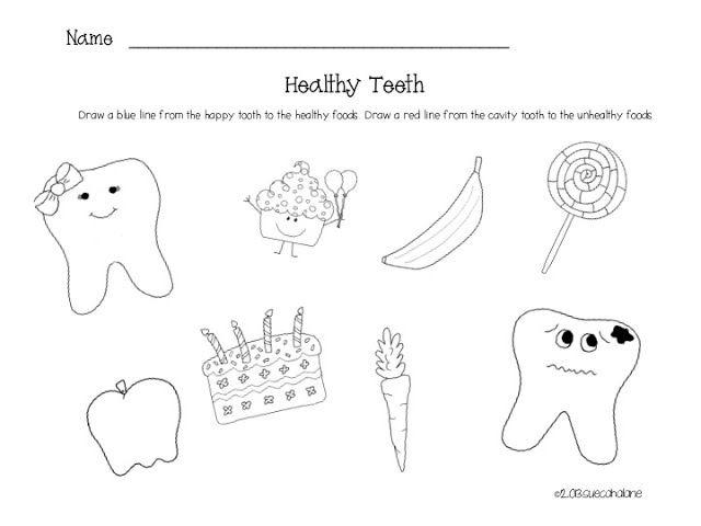 Free Dental Health Worksheets For Kids Images Printables Preschool