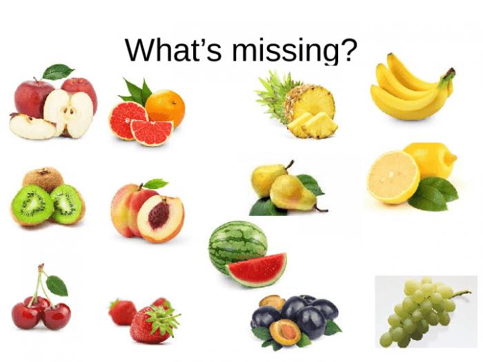 Free Fruit And Vegetables Worksheets