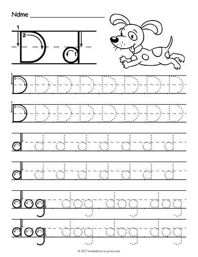 Free Printable Letter D Preschool Worksheets