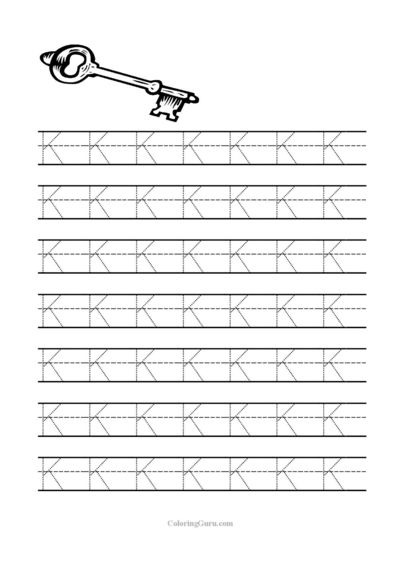Free Printable Tracing Letter K Worksheets For Preschool  Free