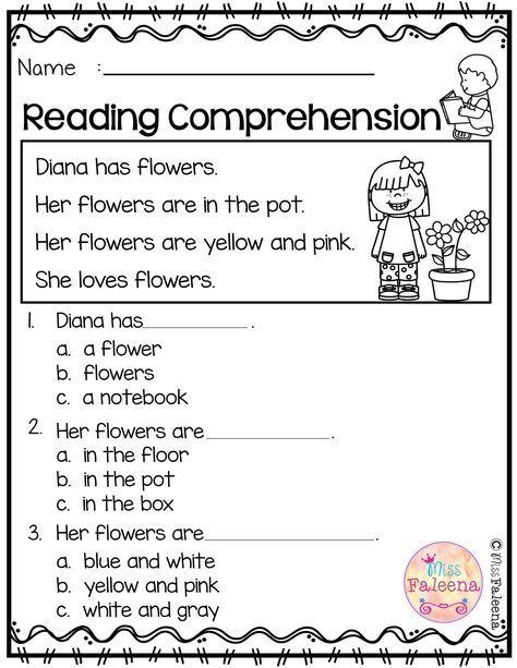 Free Reading Comprehension Is Suitable For Kindergarten Stud
