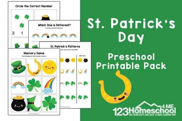 Free St Patricks Day Printable Worksheets For Preschoolers