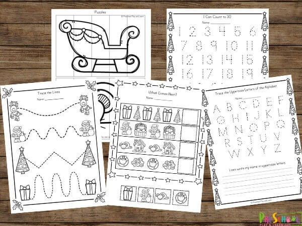 Free The Night Before Christmas Worksheets