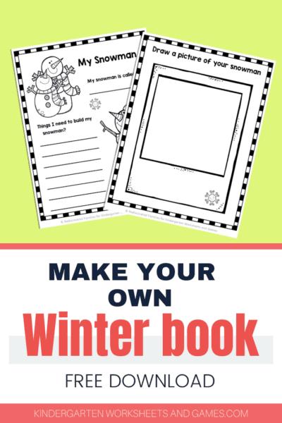 Free Winter Writing Prompts Worksheets For Kindergarten