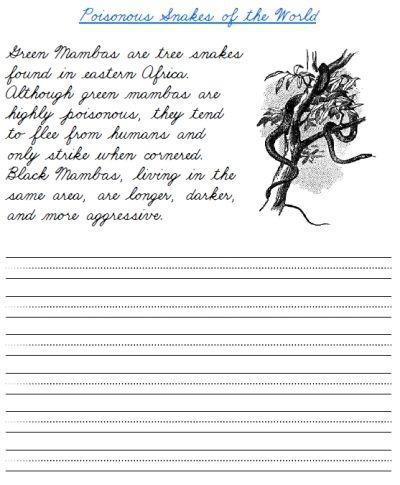 Fun Cursive Handwriting Activities