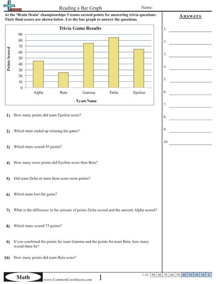 Graph Worksheets Grade