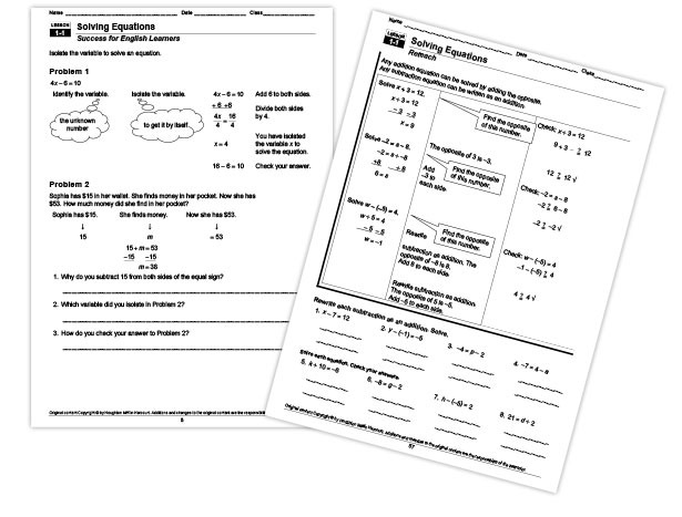 Harcourt Math Worksheets School Publishers Differentiated Company