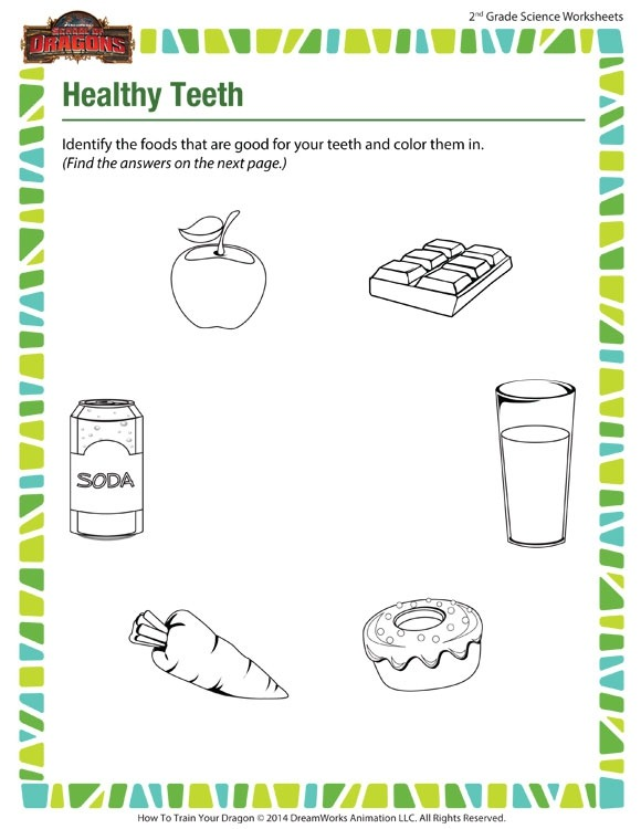 Healthy Teeth View  Science Worksheets For Nd Grade  Sod